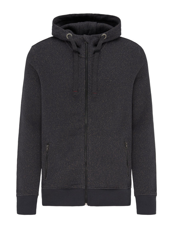 M219-09-H06 Sweatjacke RECOLUTION anthracite waffle