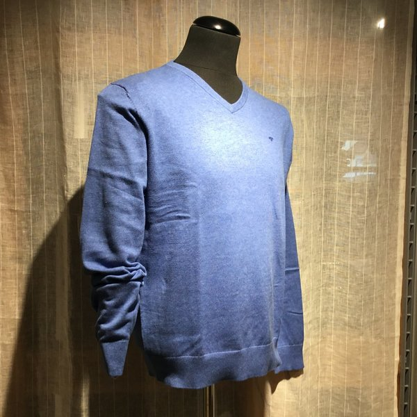1012820 Pullover TOM TAILOR men 21623 mid blue melange