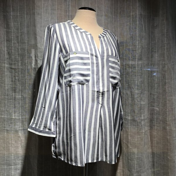 1016190 Bluse TOM TAILOR wmn 21395 offwhite navy stripe
