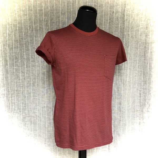 M220-02-I17 T-Shirt RECOLUTION navy/brick red