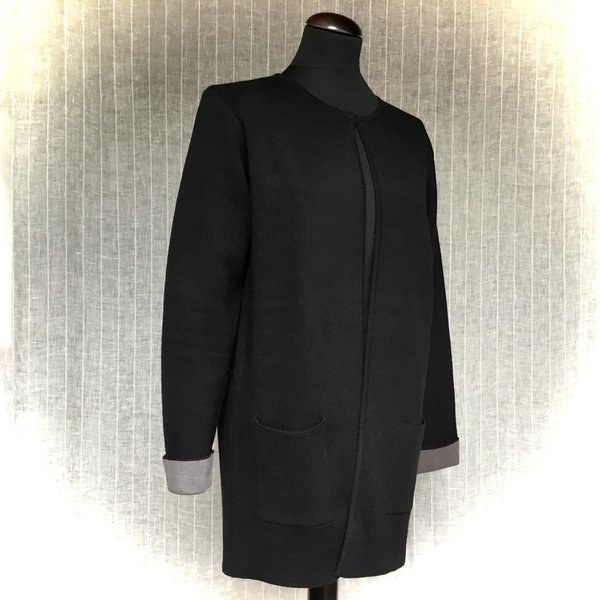16890002 Stickjacke LEBEK 99 black